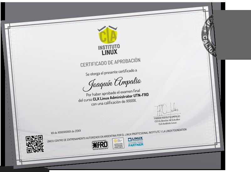 Certificado LINUX SYSTEM ADMINISTRATOR